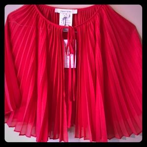 Max and Cleo:  Sheer red cape - NWT